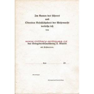 Paper for German Das Kriegsverdienstkreuz 2. klasse mit Schwertern