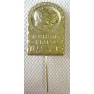 WW1 Austrian kappeabzeichen 1914-15 mit vereinter kraft 11. Armee