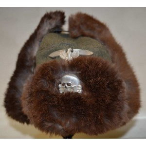 German army WW2 winter fur hat cap
