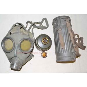 German WW2 Gas Mask Gasmaske GM30 S-maske complete