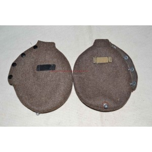 German WW2 felt covers on field flask canteen