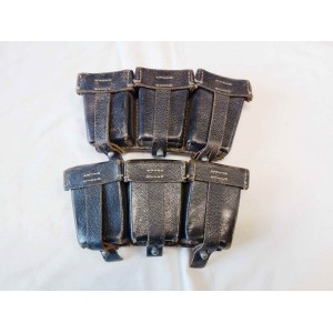 Pair of German WW2 leather ammo pouch