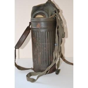 German WW2 army gas mask with box
