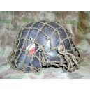 German WW2 LW SD m 35 steel helmet with net